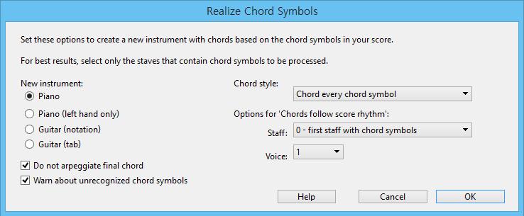 Realize Chord Symbols – Sibelius Lover